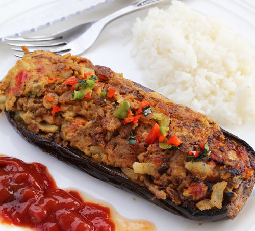 how to cook stuffed eggplant