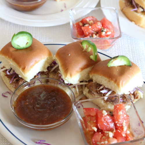 Sweet and Spicy Pulled Pork Sliders is Today's Delight