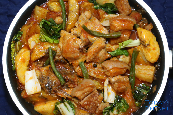pork and chicken pochero recipe is Today's Delight