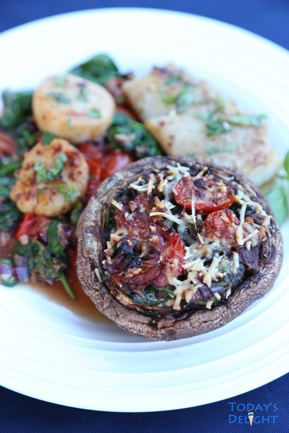 Spinach Stuffed Portobello Mushrooms is Today's Delight