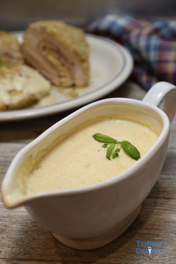 creamy mustard sauce is Today's Delight