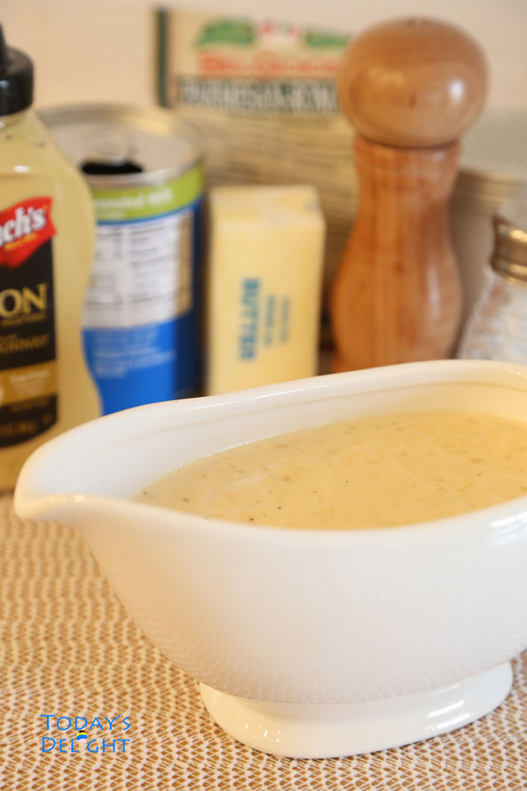 creamy mustard sauce ingredients at Today's Delight