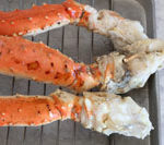 Steaming frozen cooked Alaskan crab legs is Today's Delight