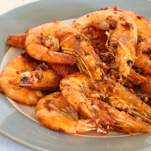 Pan-fried garlic butter shrimp recipe is Today's Delight
