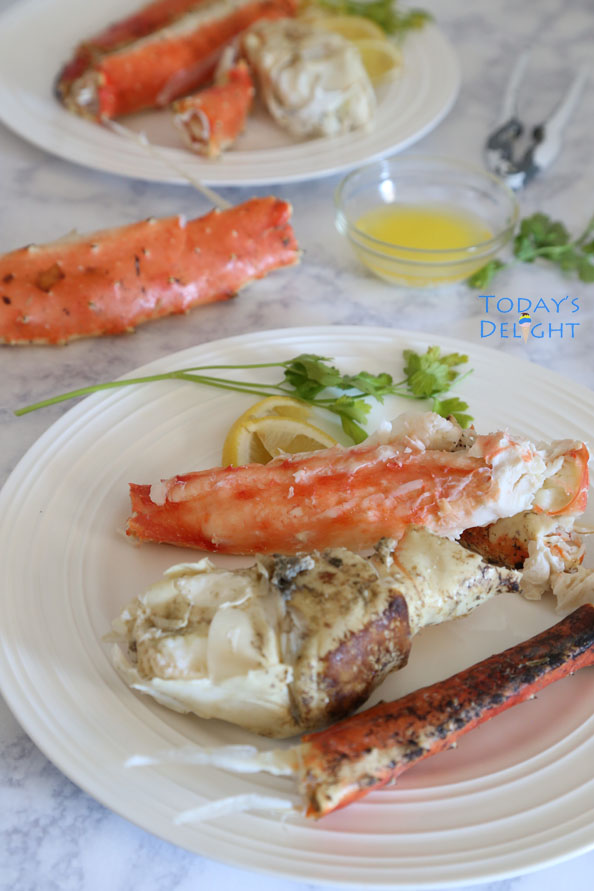 cooked king crab legs is Today's Delight