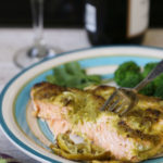 salmon with lime, cilantro and jalapeno is Today's Delight