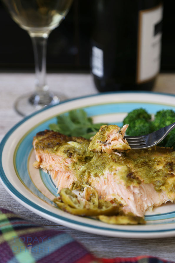 salmon with lime, cilantro and jalapeno recipe is Today's Delight