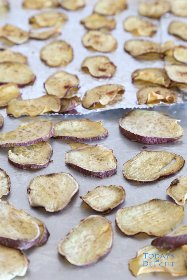 Baked Sweet Potato Chips is Today's Delight