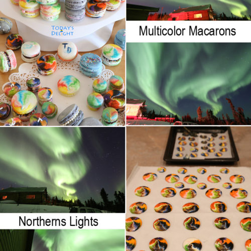 northern lights multicolor macarons is Today's Delight