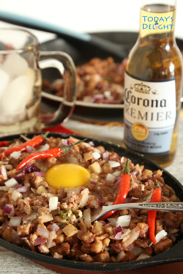 pork sisig is Today's Delight
