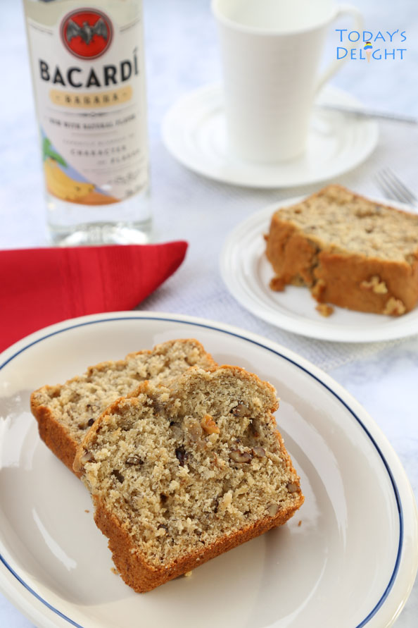 bacardi banana rum banana bread is Today's Delight