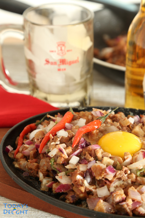 sisig recipe with pork belly no chicken liver is Today's Delight