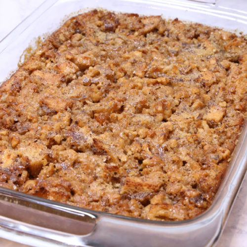 Bread pudding recipe is Today's Delight
