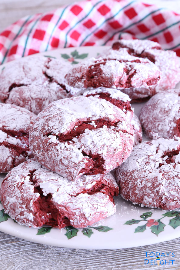 Easy Red Velvet Crinkle Cookies Cake Mix is Today's Delight