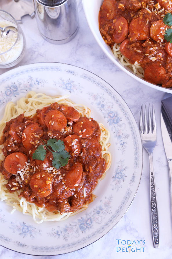how to make Filipino Spaghetti is Today's Delight