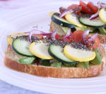 Veggie sandwich with chia seeds recipe is Today's Delight