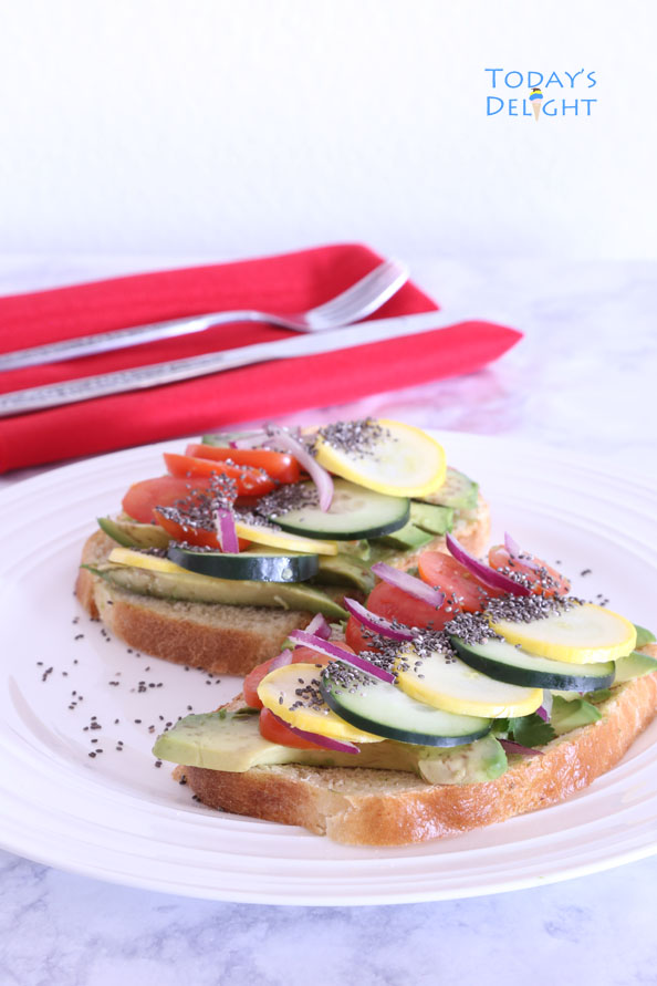 vegetable sandwich with chia seeds is Today's Delight
