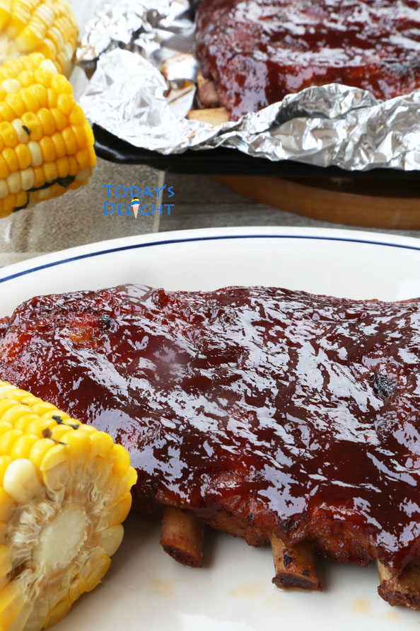 Today's Delight is Barbecue Ribs in Oven.