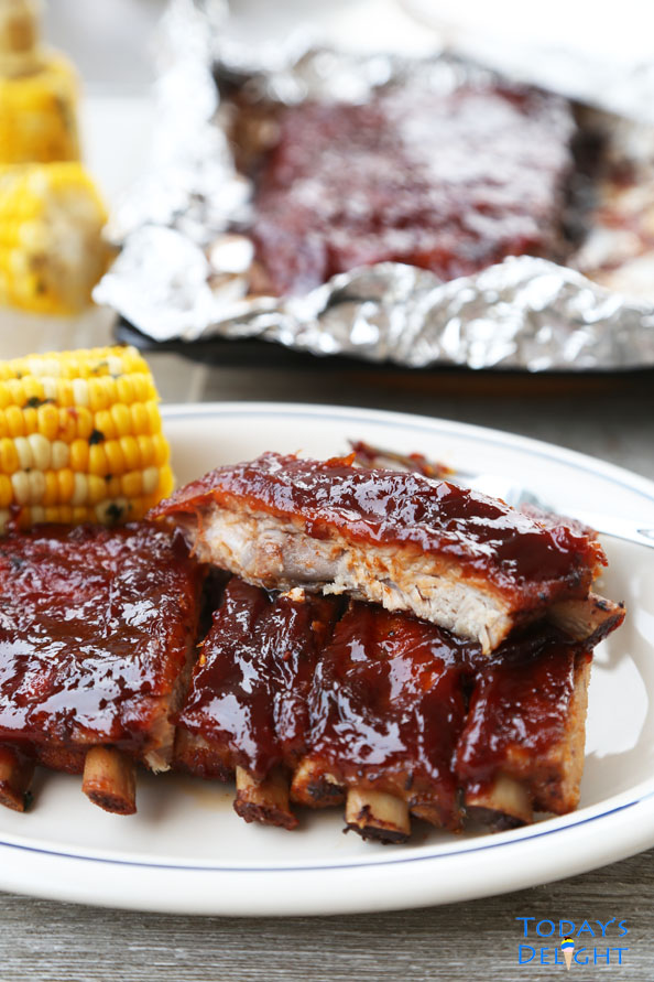 Bake barbecue ribs in oven is Today's Delight
