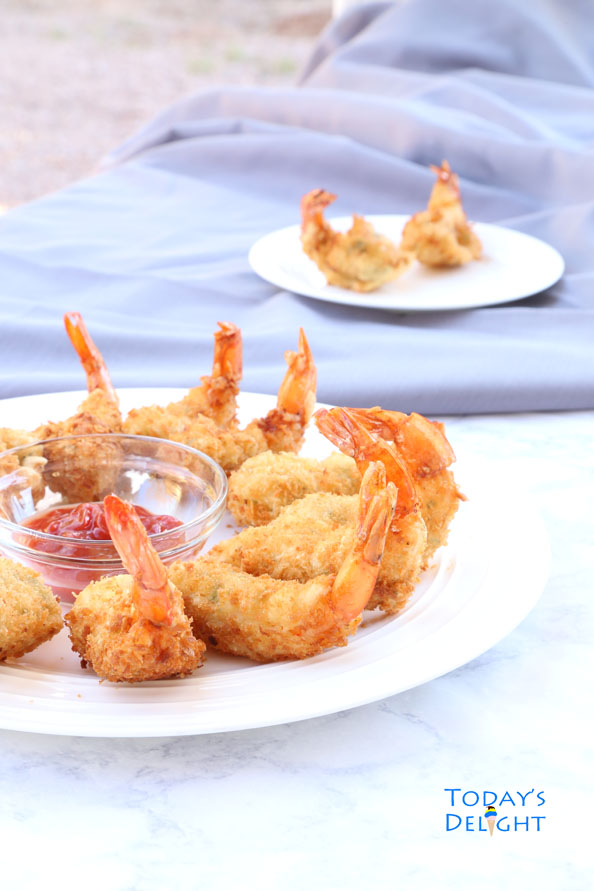 Delicious deep fried Filipino shrimp known as Camaron Rebosado is Today's Delight.