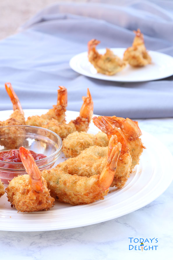 Camaron Rebosado is deep fried battered shrimp and it is Today's Delight.