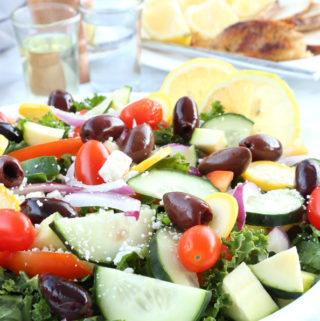 Mediterranean Kale Salad with Kalamata Olives and Feta is one delicious salad.