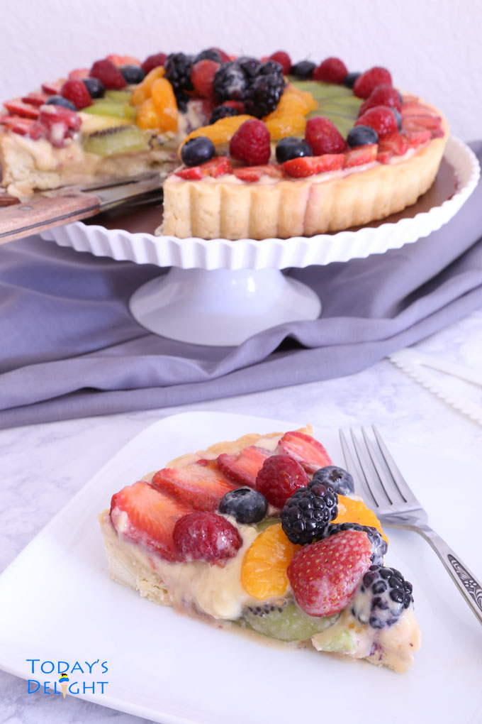 fruit tart a delicious French dessert