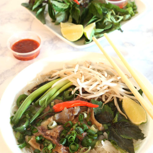 Vietnamese Beef Pho is savory and delicious.