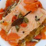 mediterranean style salmon in olive oil is similar to a Spanish sardines recipe. It is Today's Delight
