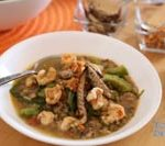 Recipe of Ginisang Munggo with Chicharon and Toasted Garlic is Today's Delight