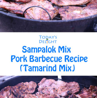 Today's Delight is Sampalok Mix Pork Barbecue Recipe (Tamarind Mix) so easy and quick to make.