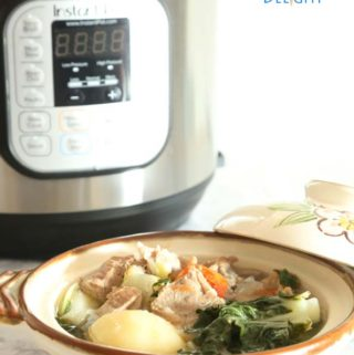 Sinigang na Baboy Instant Pot using tamarind soup mix is Today's Delight