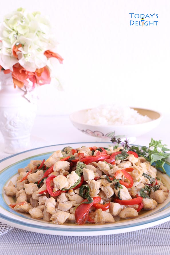 Easy Basil Chicken Recipe is Today's Delight