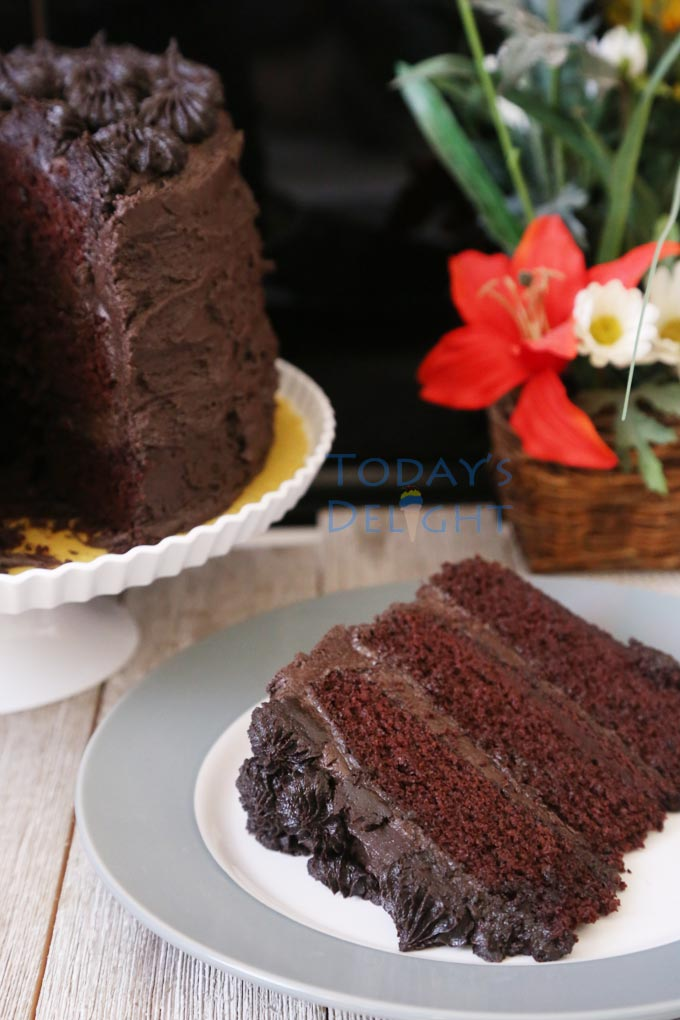Easy Chocolate Cake Recipe and Not Too Sweet is Today's Delight