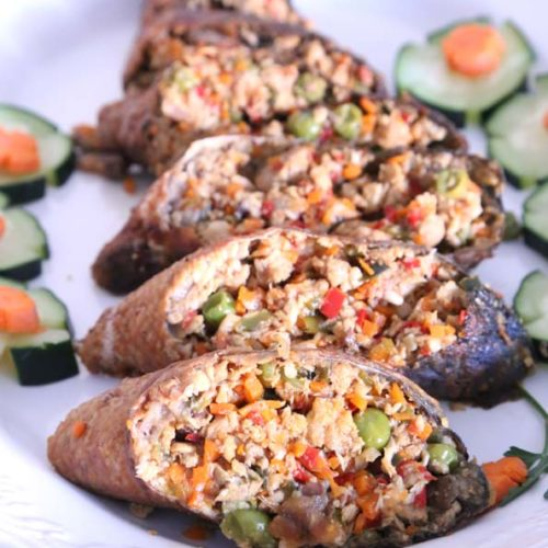 Sliced Stuffed Milkfish is Today's Delight