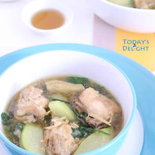Tinolang Manok is a classic Filipino Chicken Soup & today's delight