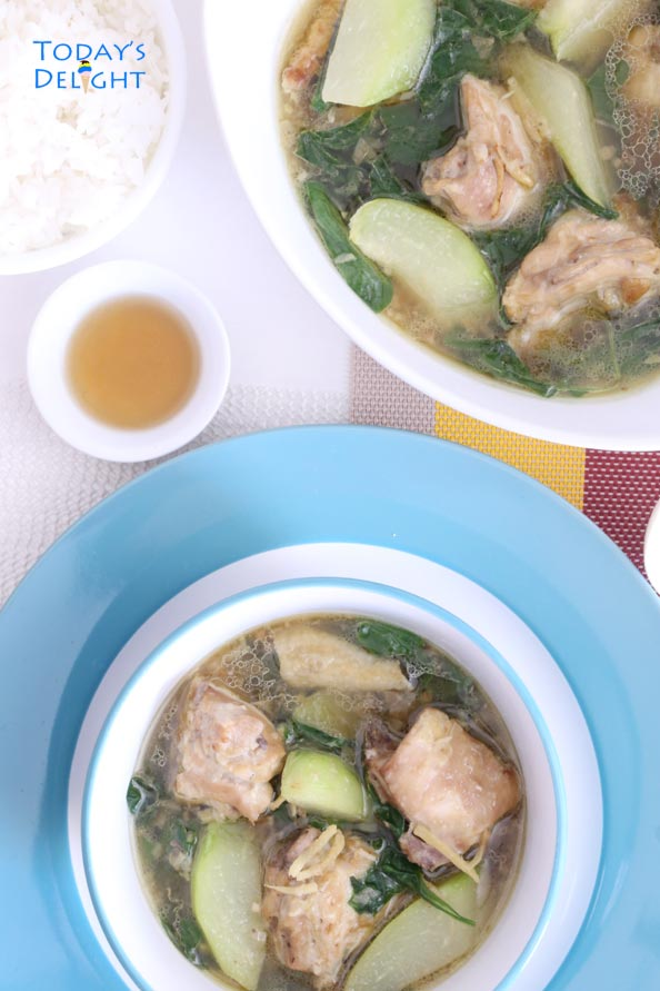 Chicken Tinola is infused with flavorful spices and it is today's delight