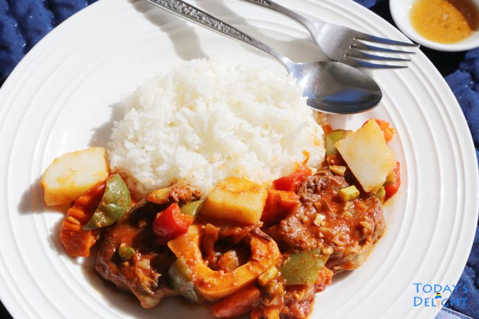 Filipino Beef Stew is Today's Delight