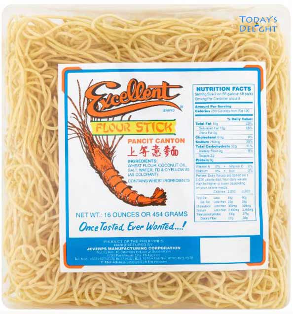 Dried Pancit Canton Noodles can be used in making Lo Mein