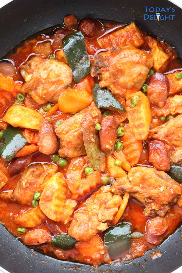 Chicken Afritada with vegetables is Today's Delight