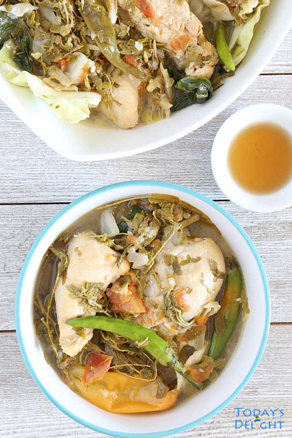 Sinampalukang Manok also known as Filipino Chicken Tamarind Soup is Today's Delight.