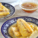 Banana Plantain in Butter Rum Cinnamon Brown Sugar Syrup is Today's Delight