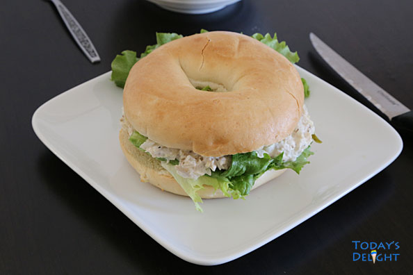 Bagel with Chicken Spread