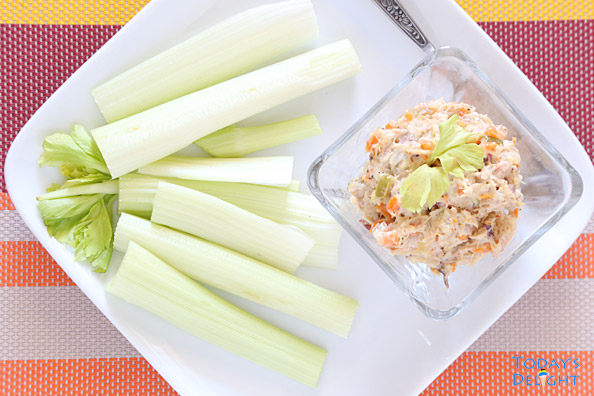 Celery with Chicken Spread