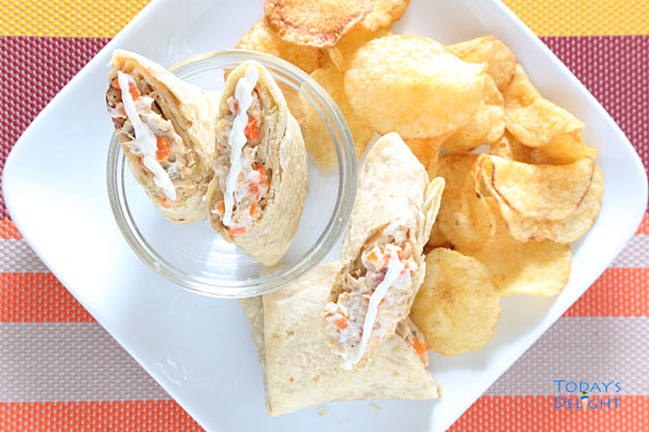 Chimichangas with Chicken Spread
